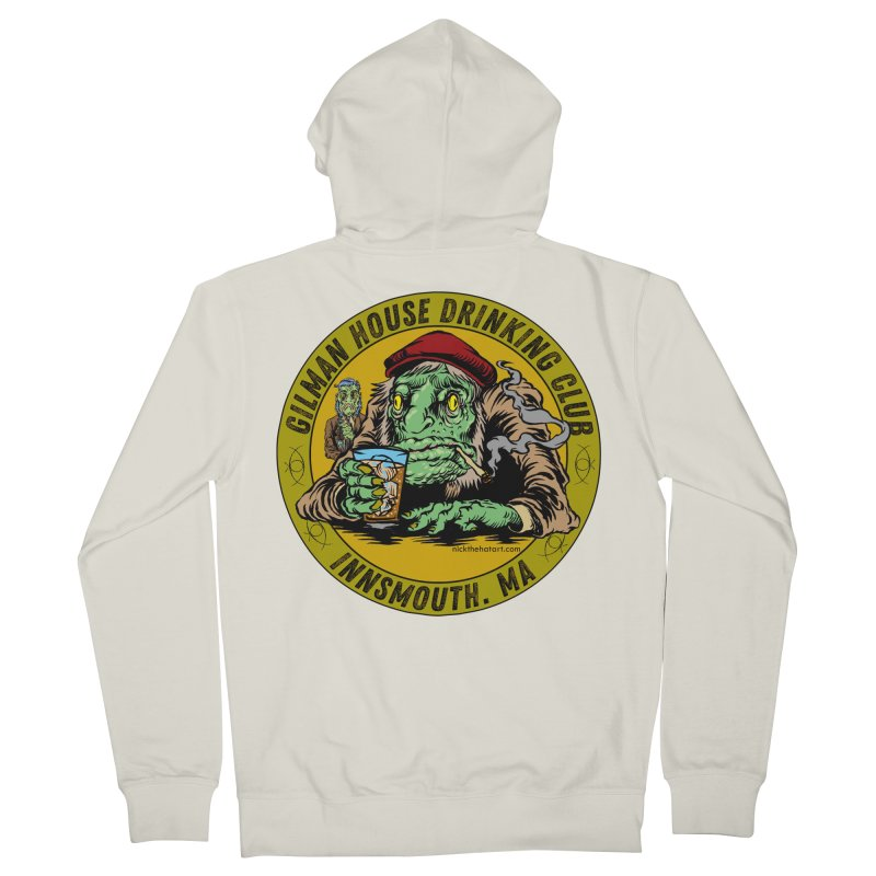 Gilman House Drinking Club Women's French Terry Zip-Up Hoody by Nick the Hat