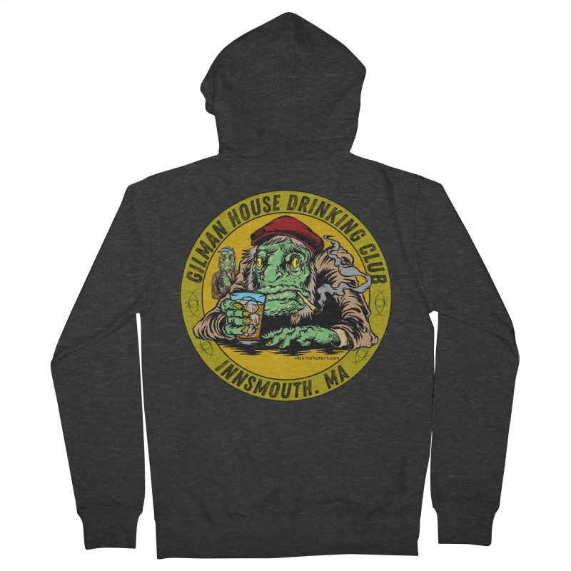 Gilman House Drinking Club Men's French Terry Zip-Up Hoody by Nick the Hat