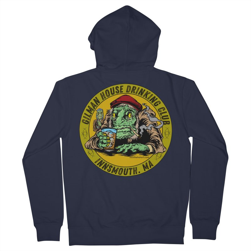Gilman House Drinking Club Men's Zip-Up Hoody by Nick the Hat