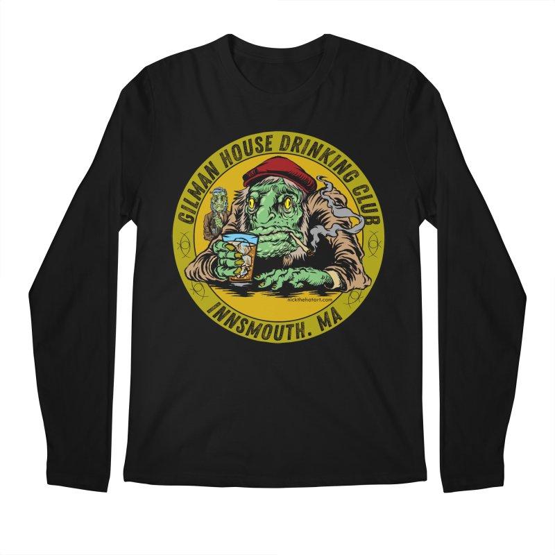 Gilman House Drinking Club Men's Regular Longsleeve T-Shirt by Nick the Hat