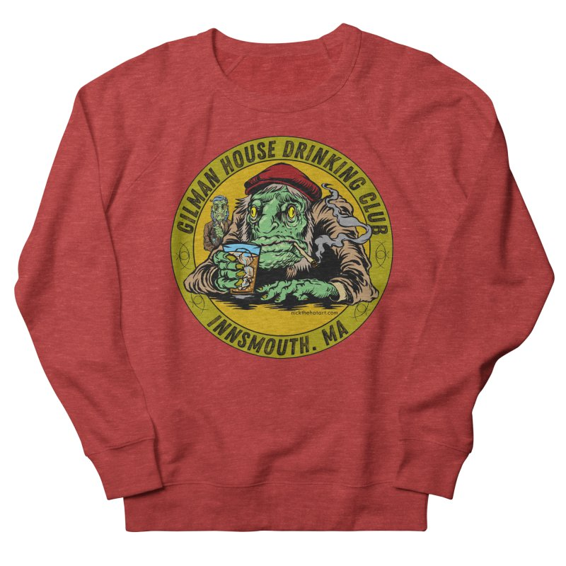 Gilman House Drinking Club Women's French Terry Sweatshirt by Nick the Hat