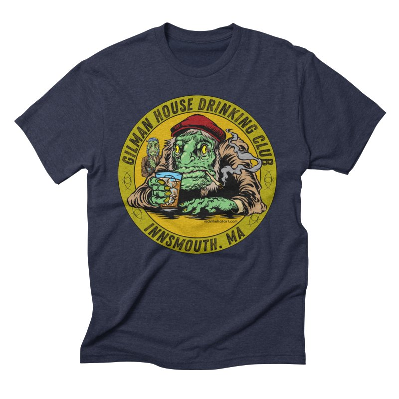 Gilman House Drinking Club Men's Triblend T-Shirt by Nick the Hat
