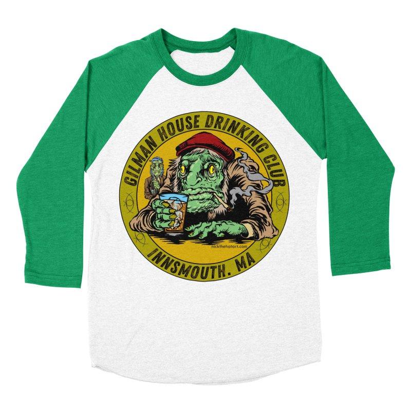 Gilman House Drinking Club Men's Baseball Triblend Longsleeve T-Shirt by Nick the Hat