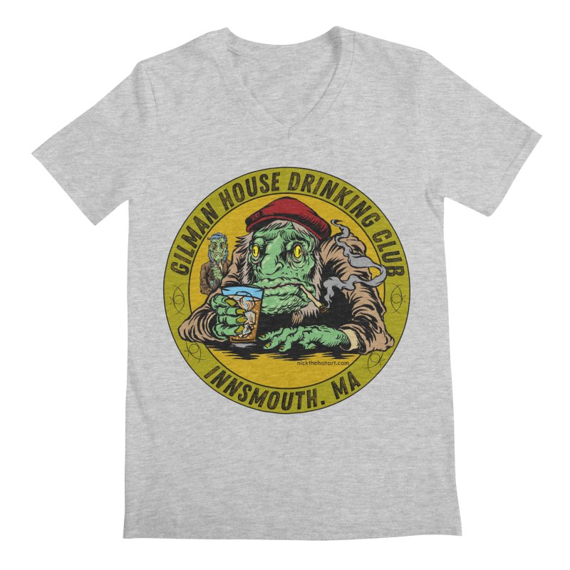 Gilman House Drinking Club Men's V-Neck by Nick the Hat