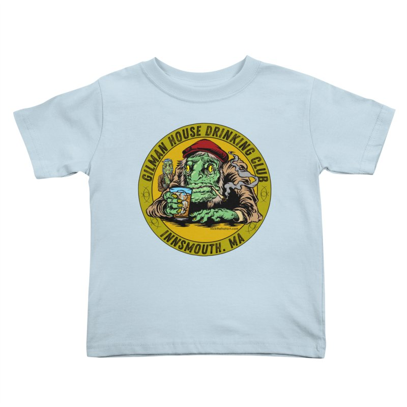 Gilman House Drinking Club Kids Toddler T-Shirt by Nick the Hat