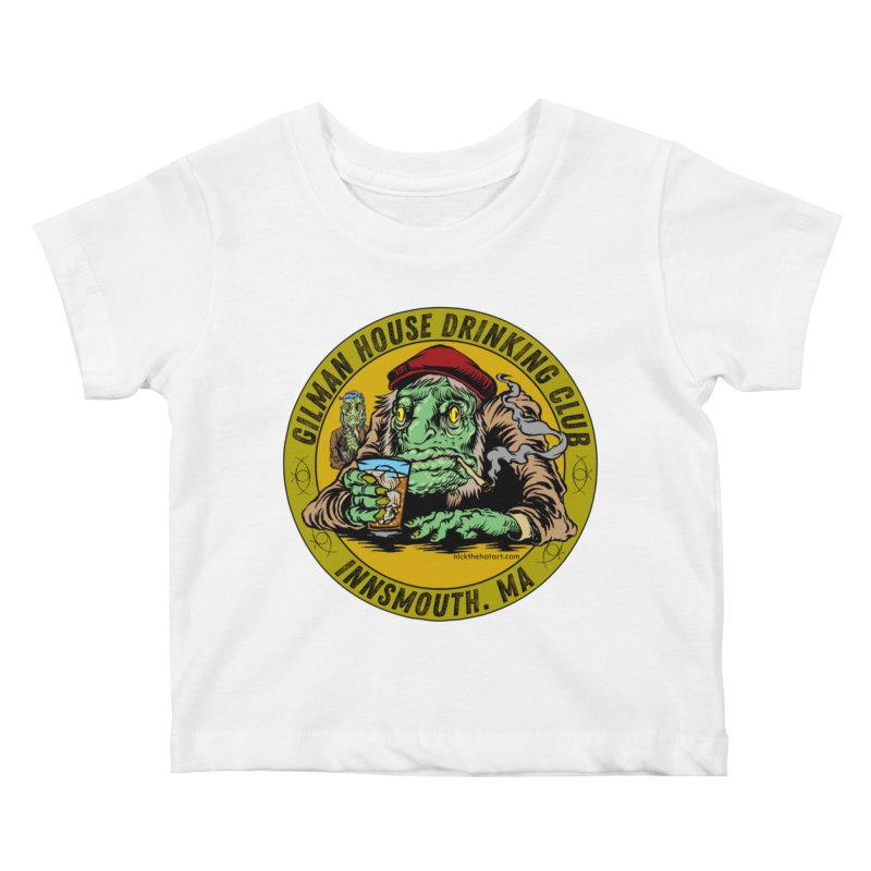 Gilman House Drinking Club Kids Baby T-Shirt by Nick the Hat
