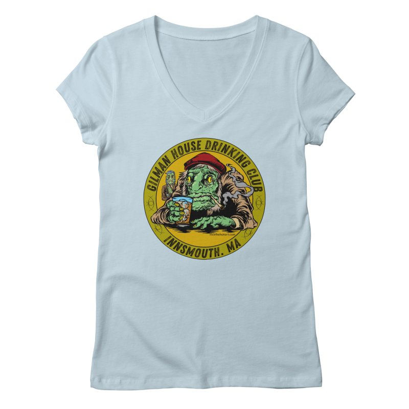 Gilman House Drinking Club Women's V-Neck by Nick the Hat