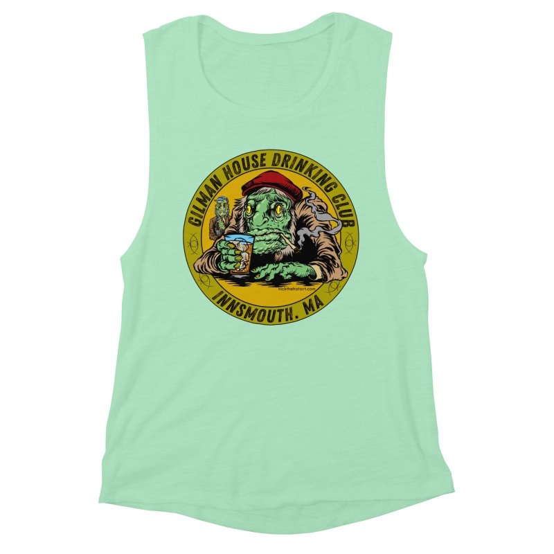 Gilman House Drinking Club Women's Muscle Tank by Nick the Hat