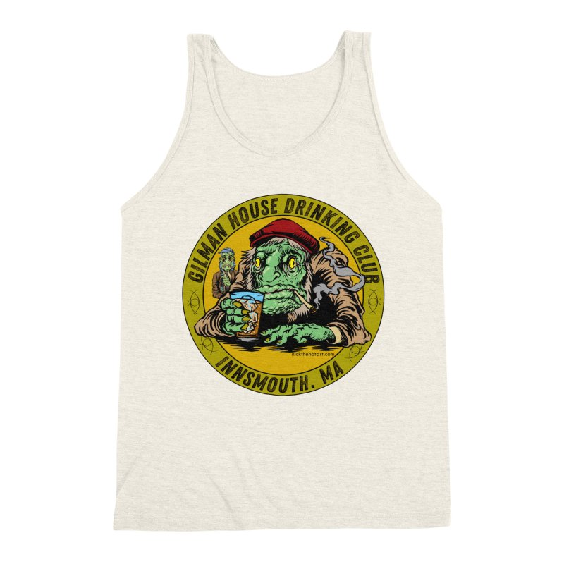 Gilman House Drinking Club Men's Triblend Tank by Nick the Hat