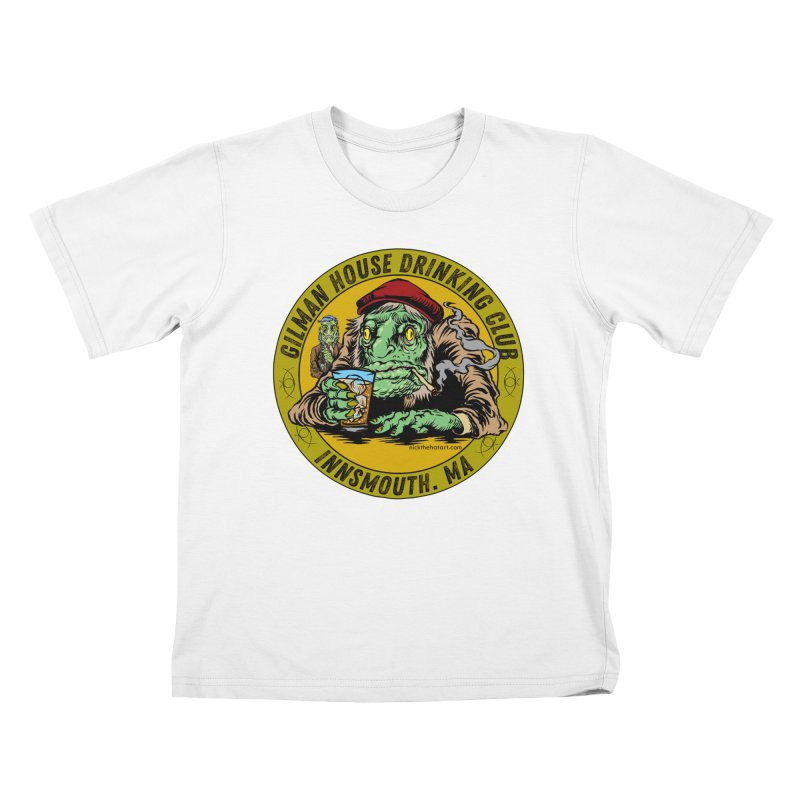 Gilman House Drinking Club Kids T-Shirt by Nick the Hat