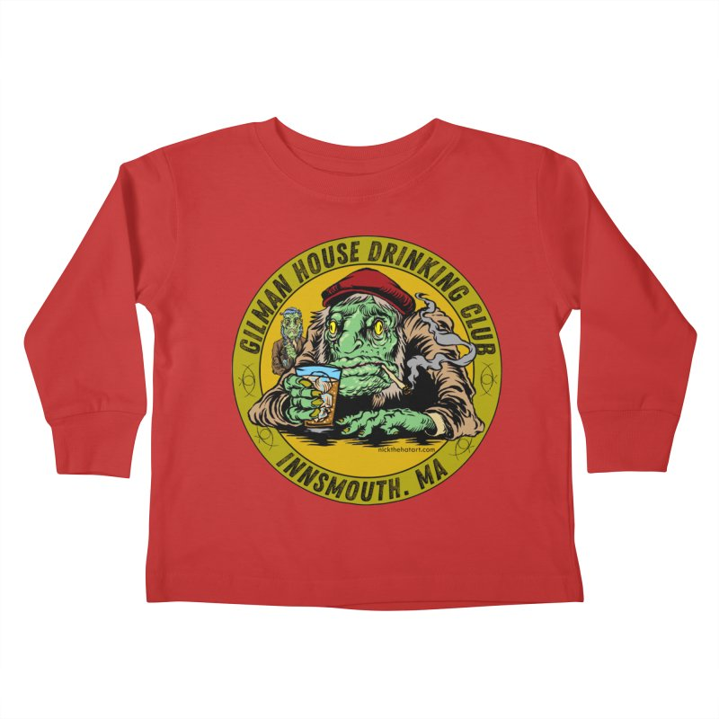 Gilman House Drinking Club Kids Toddler Longsleeve T-Shirt by Nick the Hat
