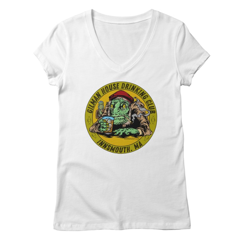 Gilman House Drinking Club Women's Regular V-Neck by Nick the Hat