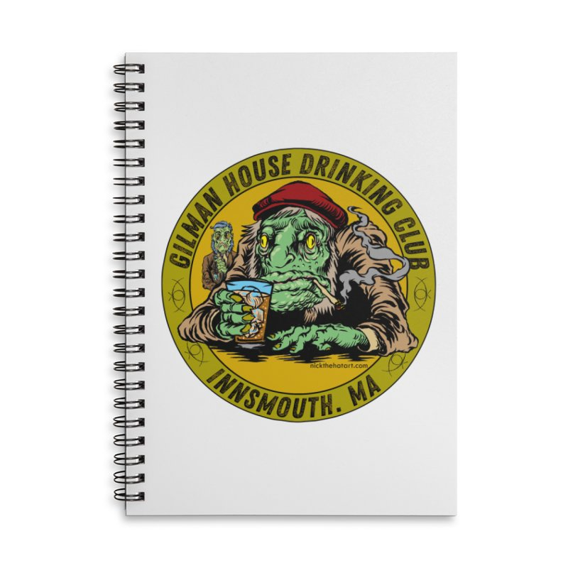 Gilman House Drinking Club Accessories Lined Spiral Notebook by Nick the Hat