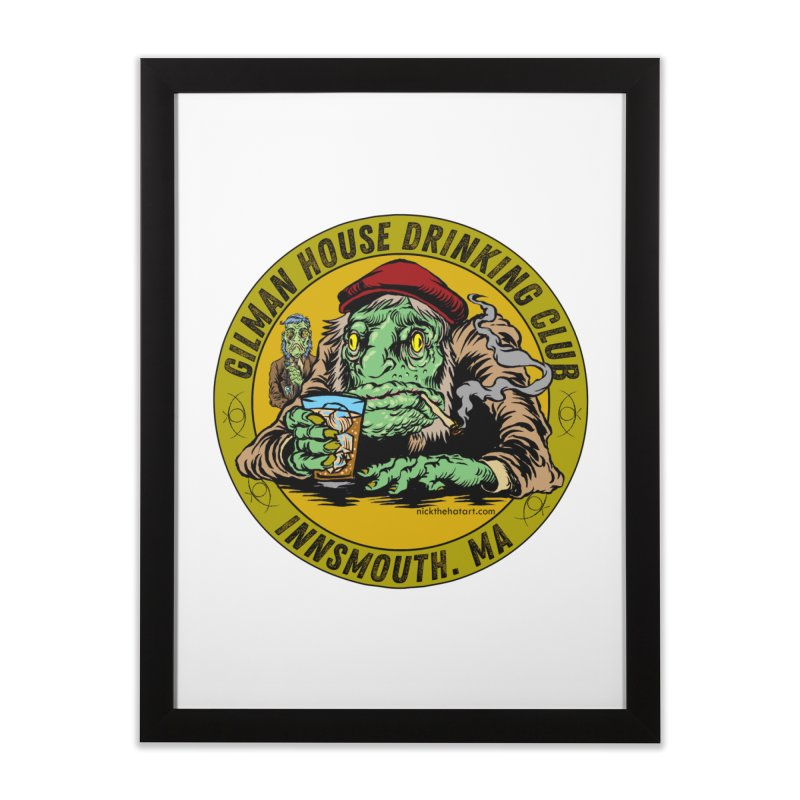 Gilman House Drinking Club Home Framed Fine Art Print by Nick the Hat