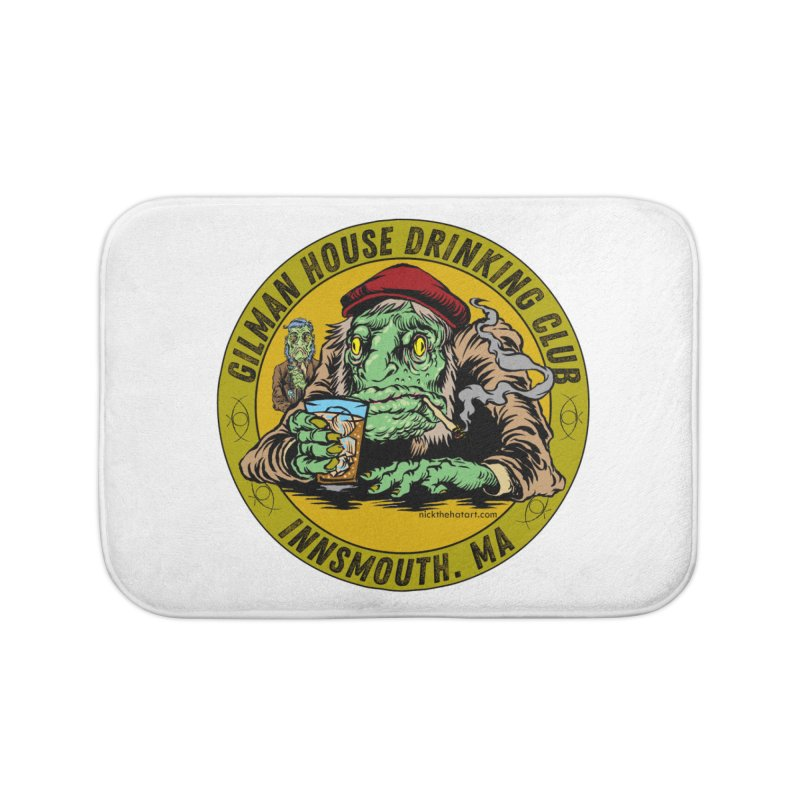 Gilman House Drinking Club Home Bath Mat by Nick the Hat