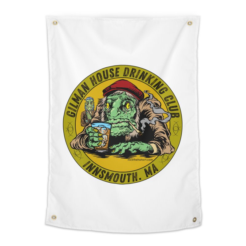 Gilman House Drinking Club Home Tapestry by Nick the Hat