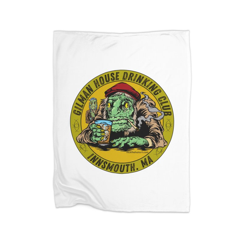 Gilman House Drinking Club Home Blanket by Nick the Hat