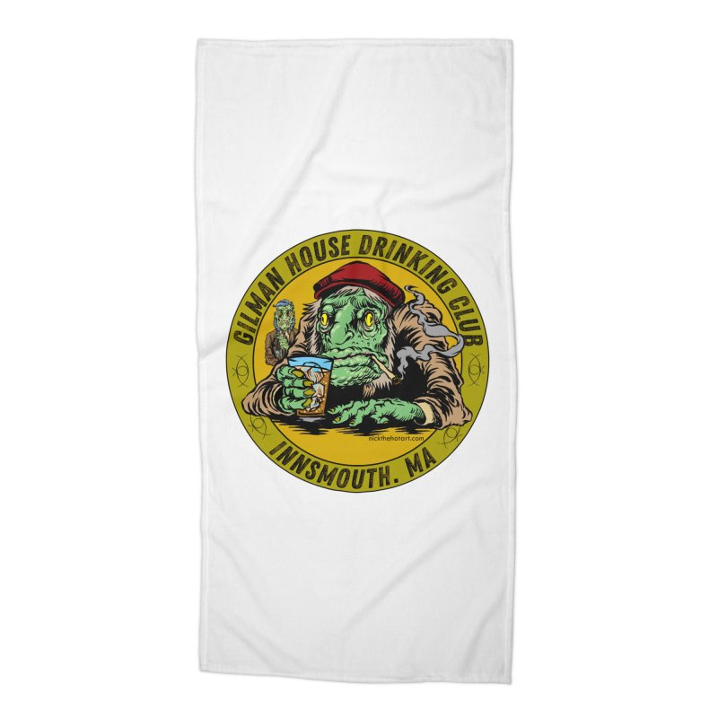 Gilman House Drinking Club Accessories Beach Towel by Nick the Hat
