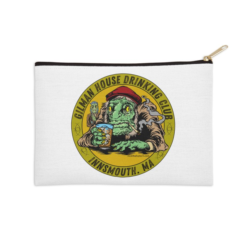 Gilman House Drinking Club Accessories Zip Pouch by Nick the Hat