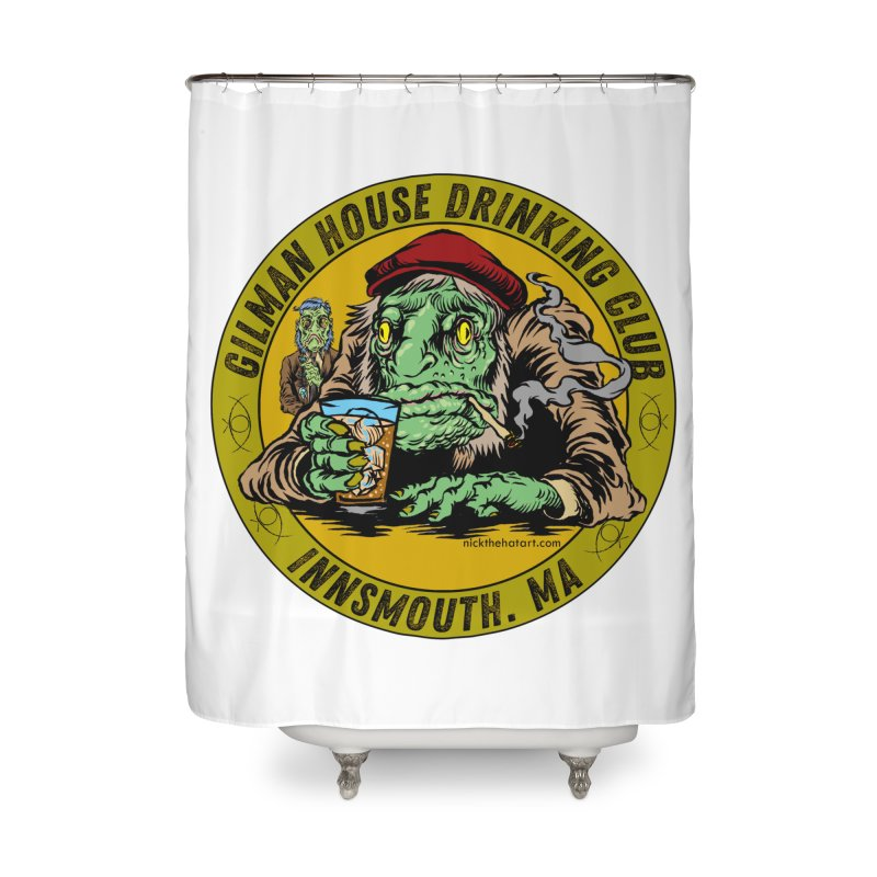 Gilman House Drinking Club Home Shower Curtain by Nick the Hat