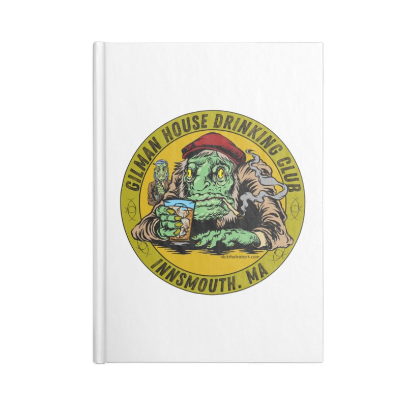 Gilman House Drinking Club Accessories Lined Journal Notebook by Nick the Hat