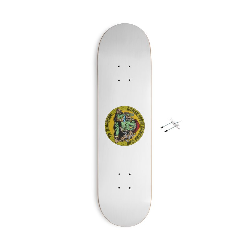 Gilman House Drinking Club Accessories With Hanging Hardware Skateboard by Nick the Hat
