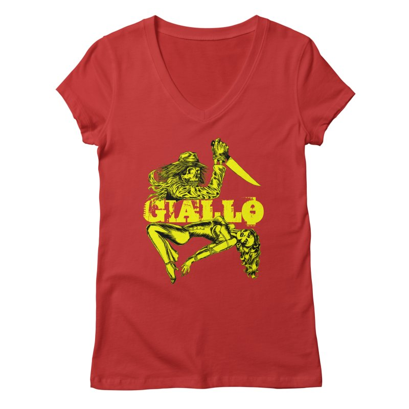 Giallo Women's V-Neck by Nick the Hat