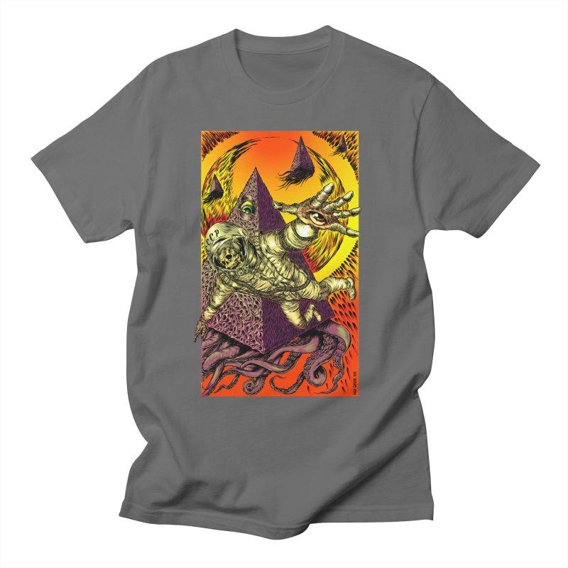 Phantasmonaut Caught in the Tentacles of a Cosmic Paradigm Men's T-Shirt by Nick the Hat