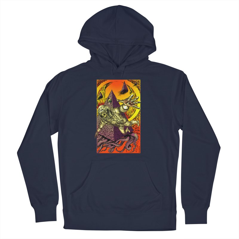 Phantasmonaut Caught in the Tentacles of a Cosmic Paradigm Men's Pullover Hoody by Nick the Hat
