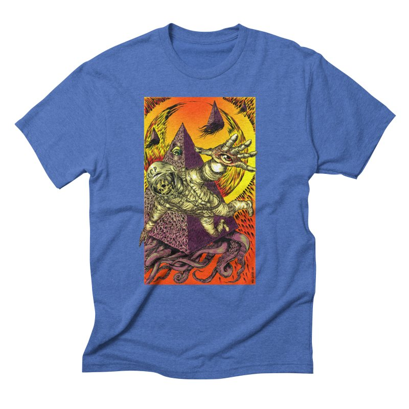 Phantasmonaut Caught in the Tentacles of a Cosmic Paradigm Men's T-Shirt by Nick the Hat