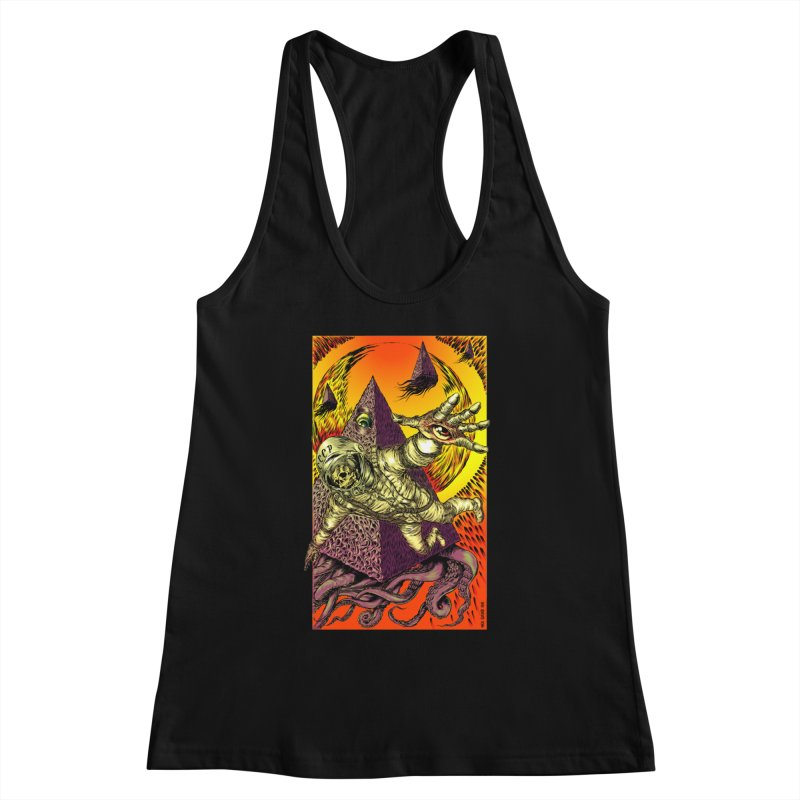 Phantasmonaut Caught in the Tentacles of a Cosmic Paradigm Women's Tank by Nick the Hat