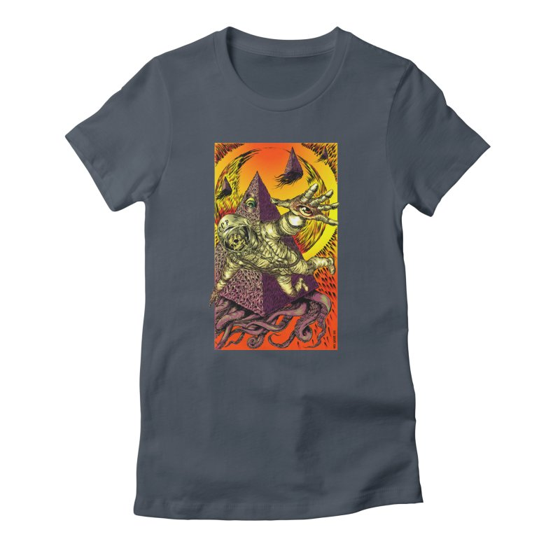 Phantasmonaut Caught in the Tentacles of a Cosmic Paradigm Women's T-Shirt by Nick the Hat