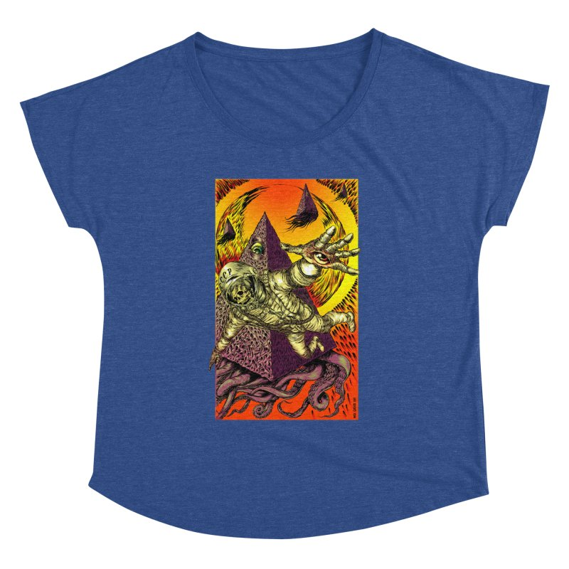Phantasmonaut Caught in the Tentacles of a Cosmic Paradigm Women's Scoop Neck by Nick the Hat