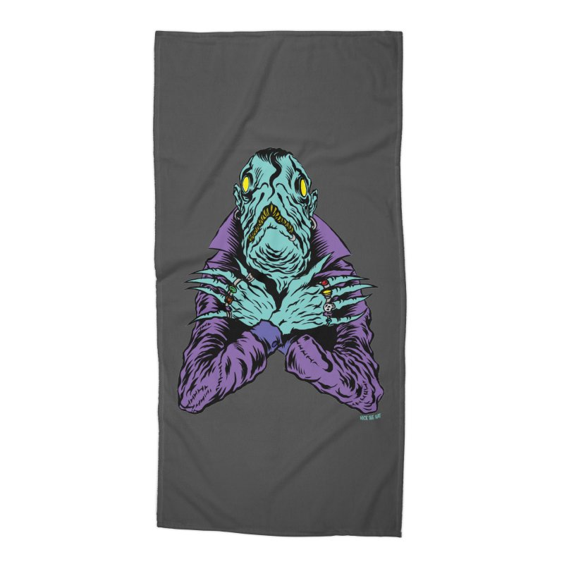 Innsmouth Goth Accessories Beach Towel by Nick the Hat
