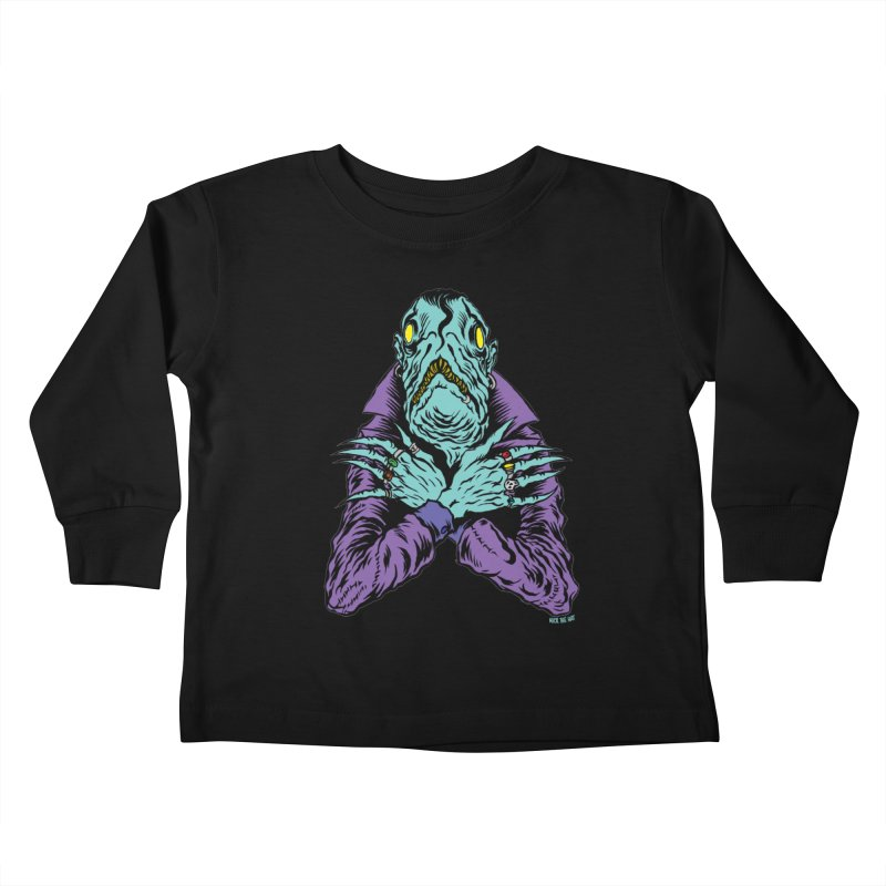 Innsmouth Goth Kids Toddler Longsleeve T-Shirt by Nick the Hat