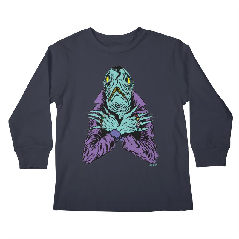 Innsmouth Goth Kids Longsleeve T-Shirt by Nick the Hat