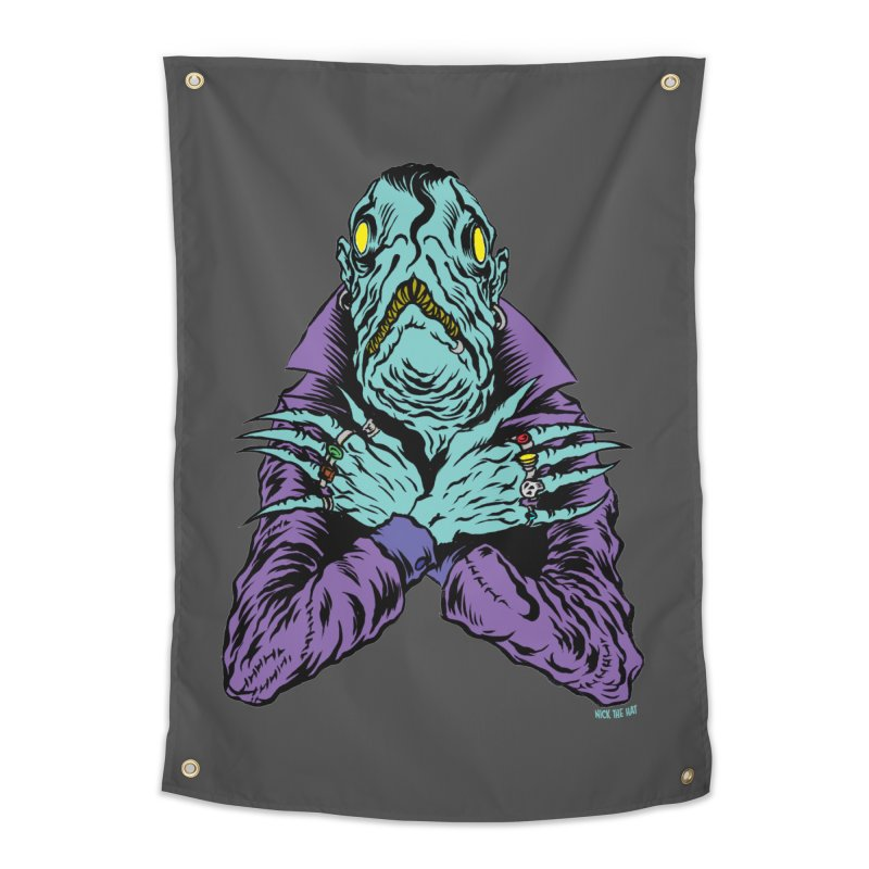 Innsmouth Goth Home Tapestry by Nick the Hat