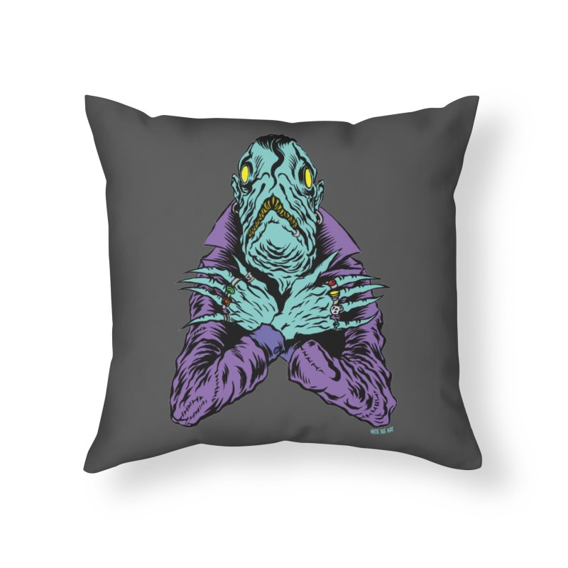 Innsmouth Goth Home Throw Pillow by Nick the Hat