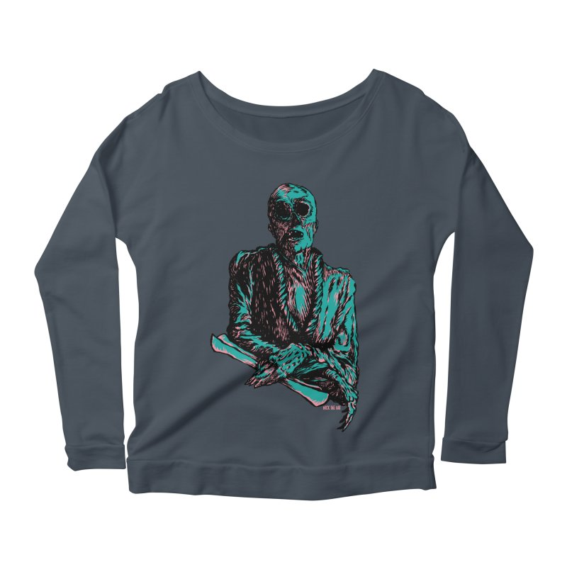 The Messenger Women's Scoop Neck Longsleeve T-Shirt by Nick the Hat