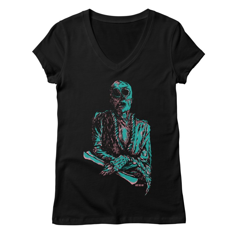 The Messenger Women's V-Neck by Nick the Hat
