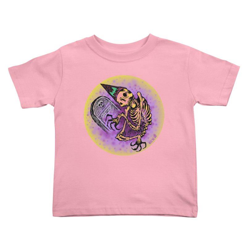 Halloween Grave Hopper Kids Toddler T-Shirt by Nick the Hat