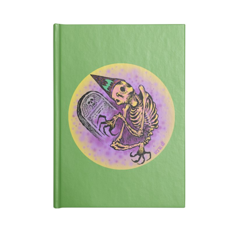 Halloween Grave Hopper Accessories Notebook by Nick the Hat