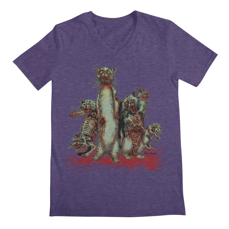 Rotten Little Animals Men's V-Neck by Nick the Hat