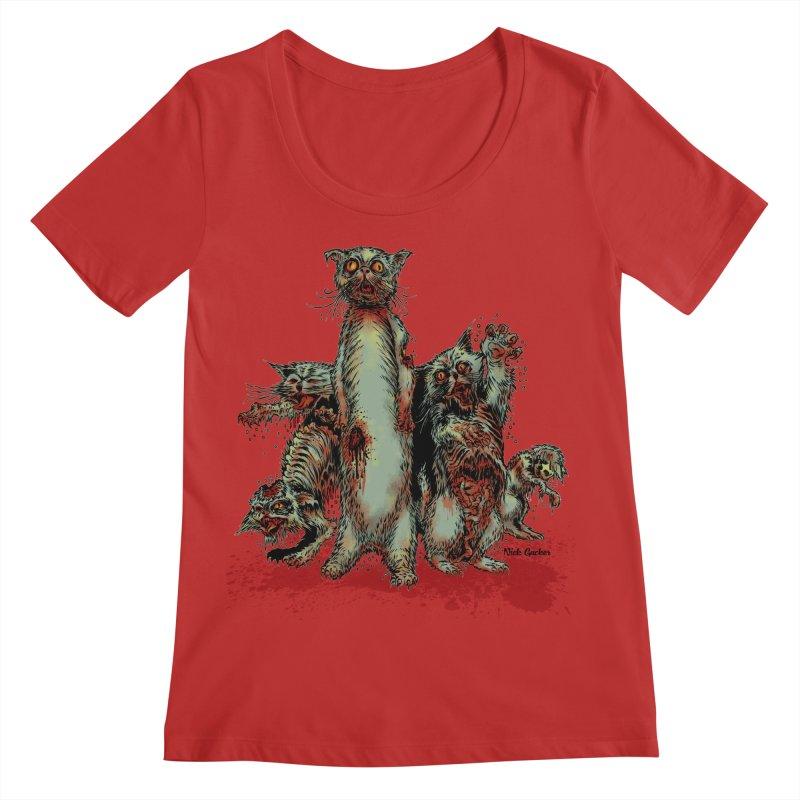 Rotten Little Animals Women's Regular Scoop Neck by Nick the Hat