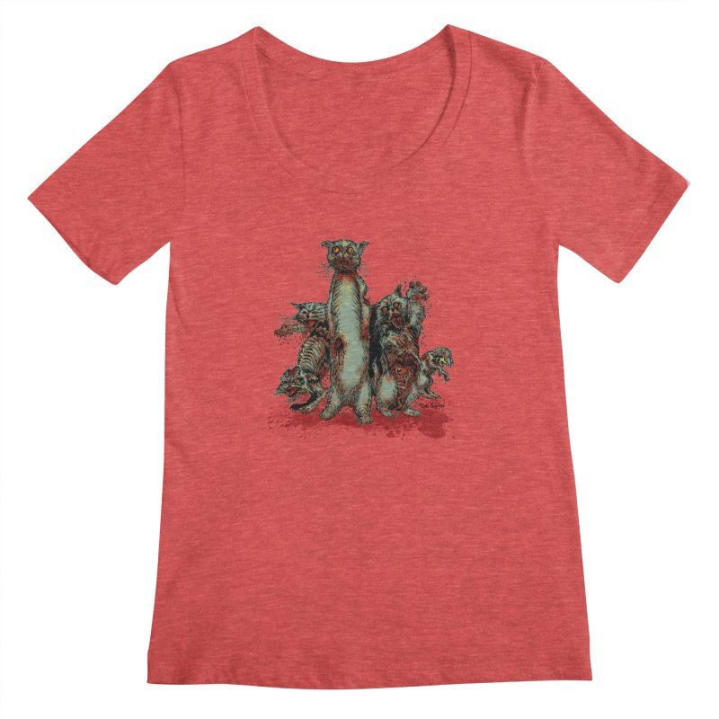Rotten Little Animals Women's Scoopneck by Nick the Hat