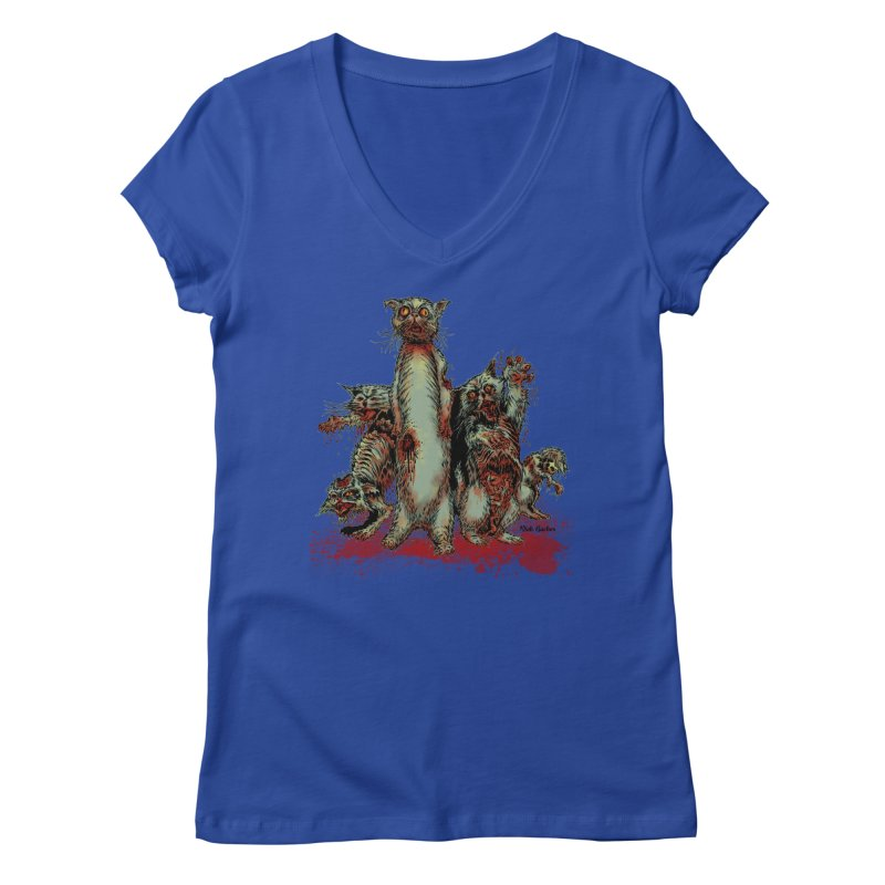 Rotten Little Animals Women's V-Neck by Nick the Hat