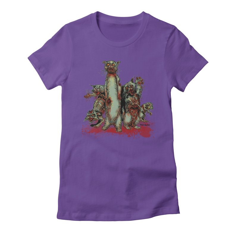 Rotten Little Animals Women's Fitted T-Shirt by Nick the Hat