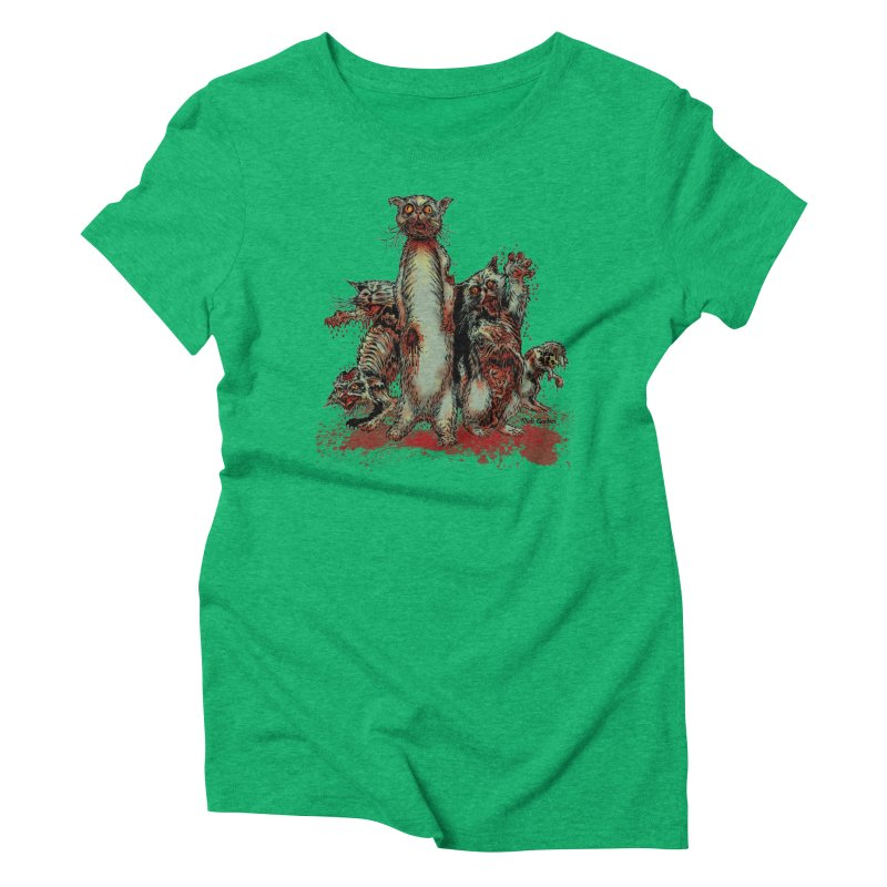 Rotten Little Animals Women's Triblend T-Shirt by Nick the Hat