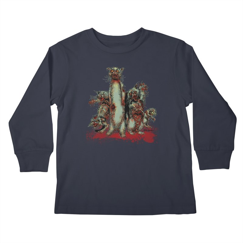 Rotten Little Animals Kids Longsleeve T-Shirt by Nick the Hat