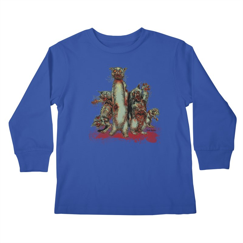 Rotten Little Animals Kids Longsleeve T-Shirt by Nick the Hat